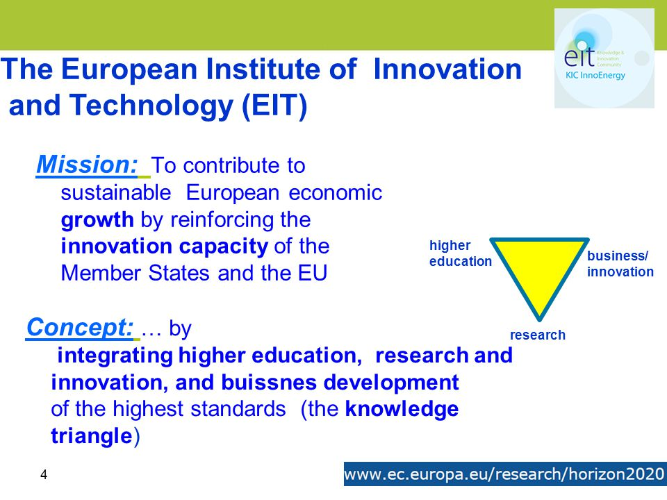The European Institute of Innovation and Technology (EIT)