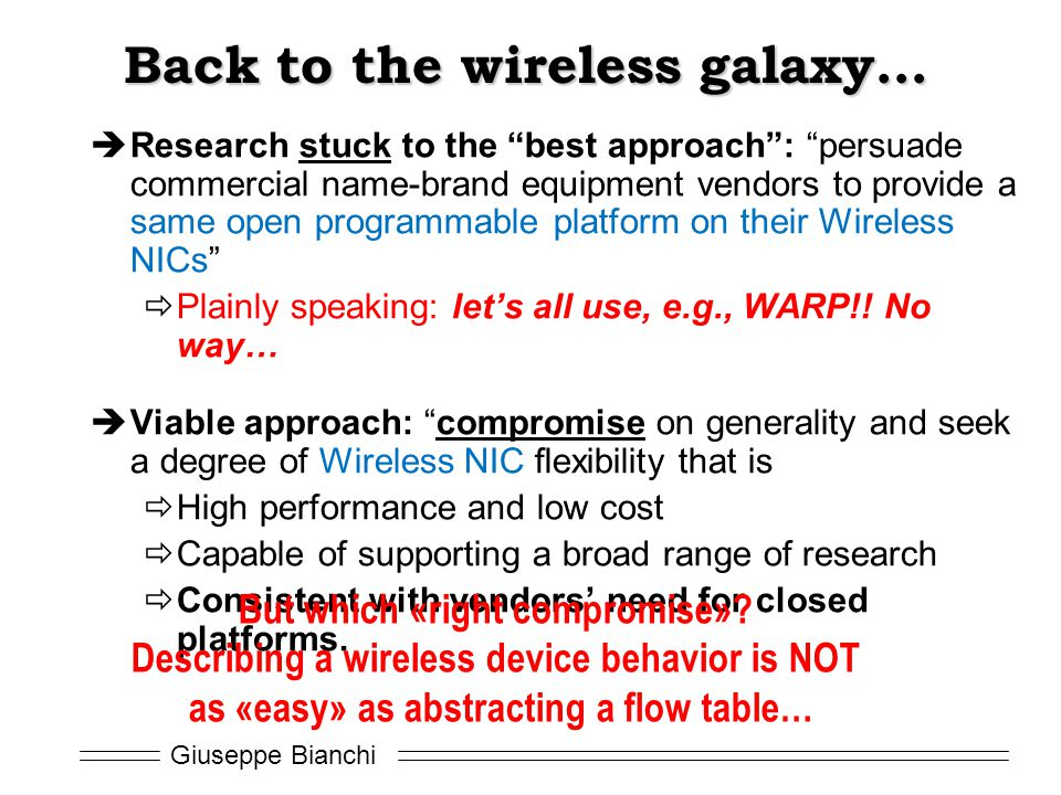 Back to the wireless galaxy…