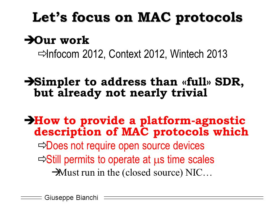 Let's focus on MAC protocols