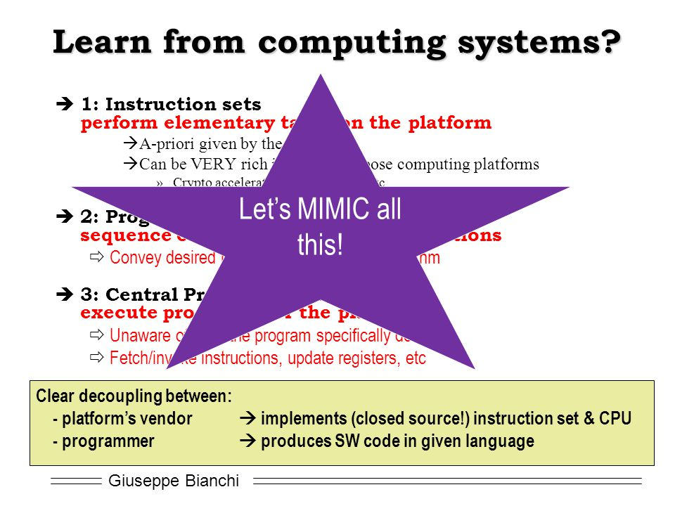 Learn from computing systems