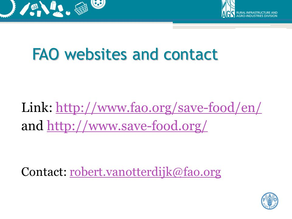 FAO websites and contact
