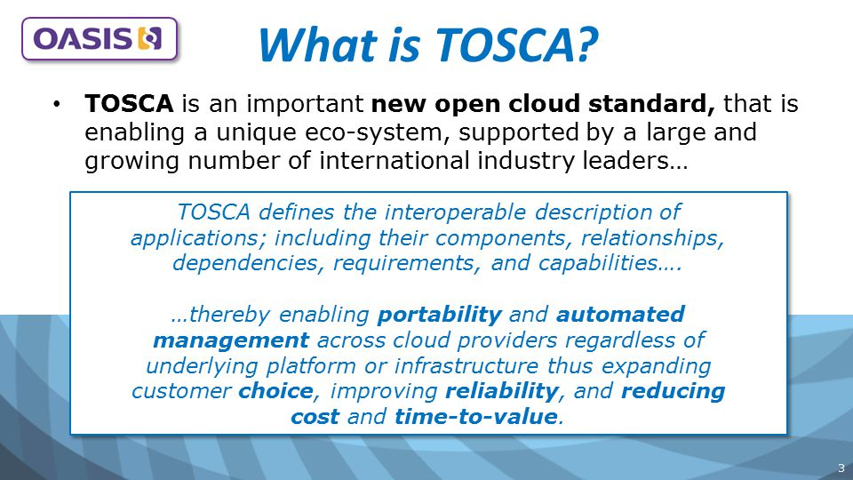 What is TOSCA