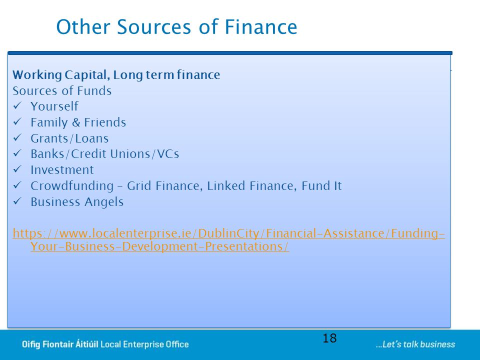 Other Sources of Finance