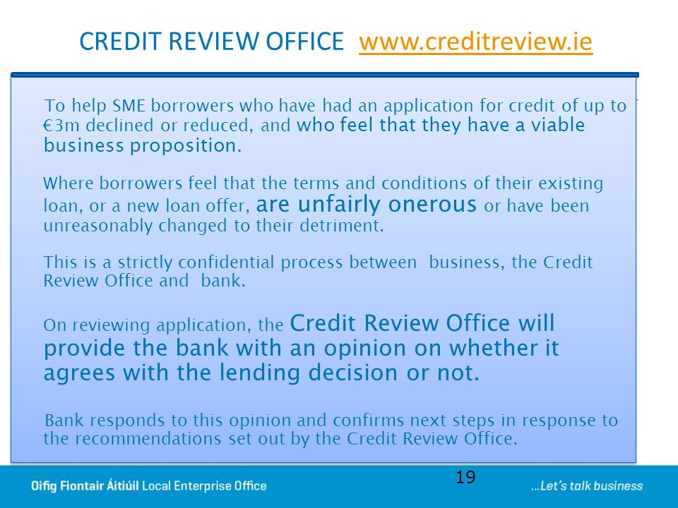 CREDIT REVIEW OFFICE www.creditreview.ie