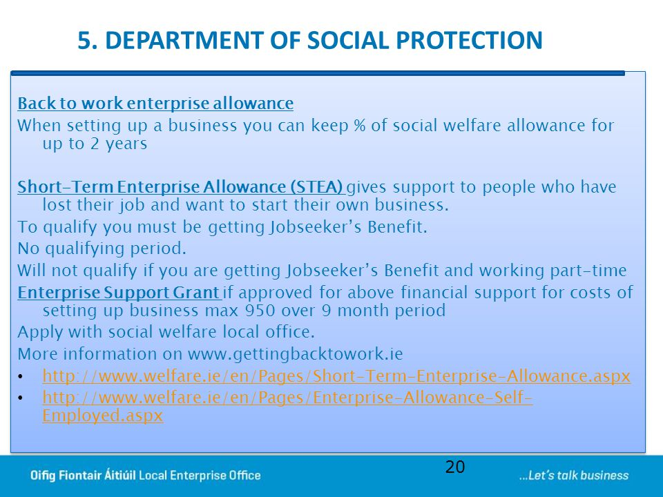 5. DEPARTMENT OF SOCIAL PROTECTION