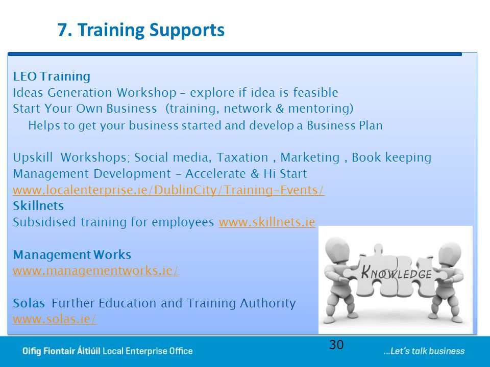 7. Training Supports LEO Training