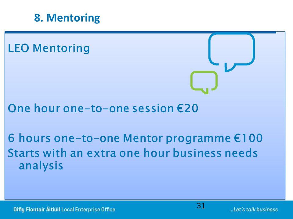 8. Mentoring
