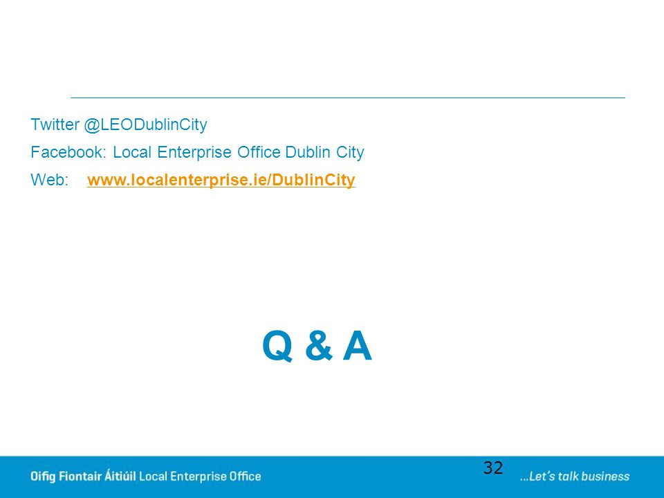 Q & A Twitter @LEODublinCity