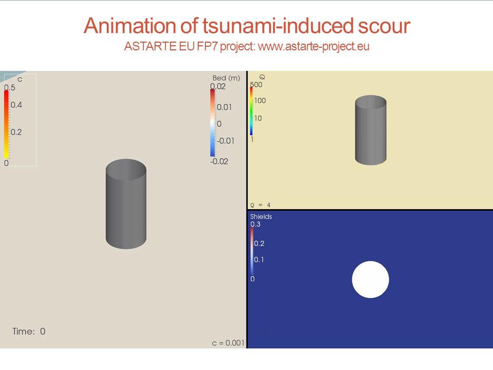 Animation of tsunami-induced scour ASTARTE EU FP7 project: www