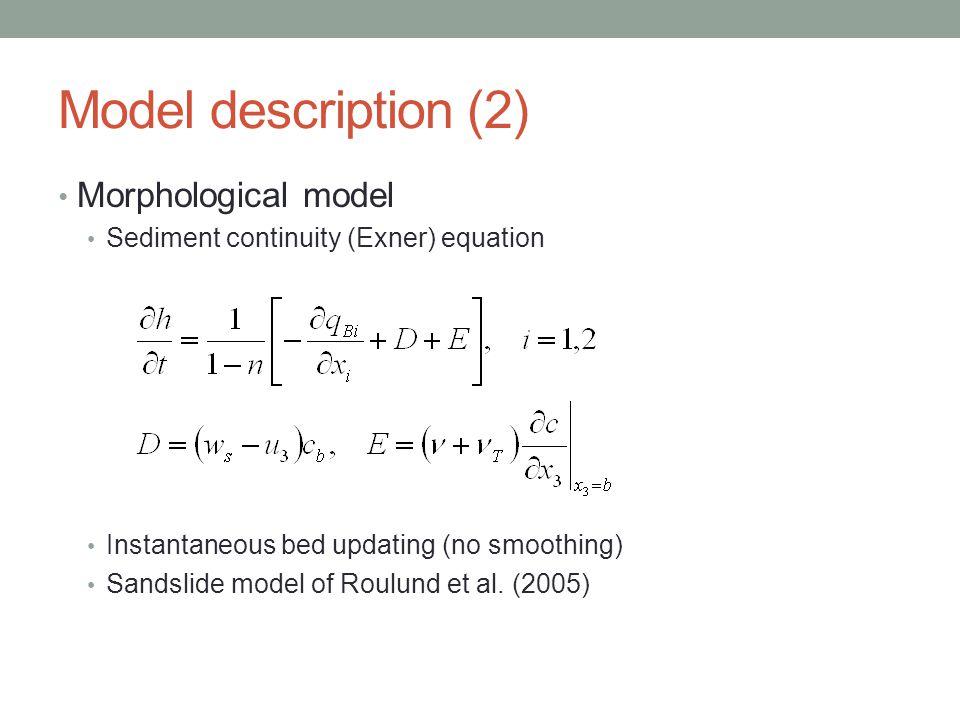 Model description (2) Morphological model