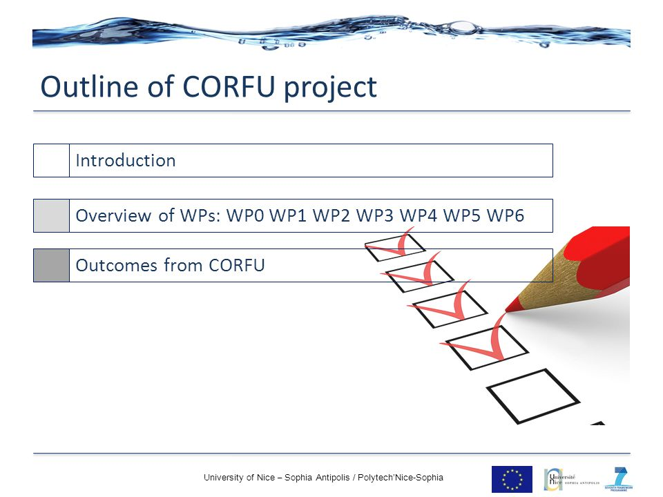 Outline of CORFU project