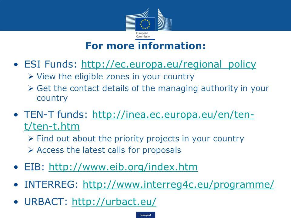 ESI Funds: http://ec.europa.eu/regional_policy