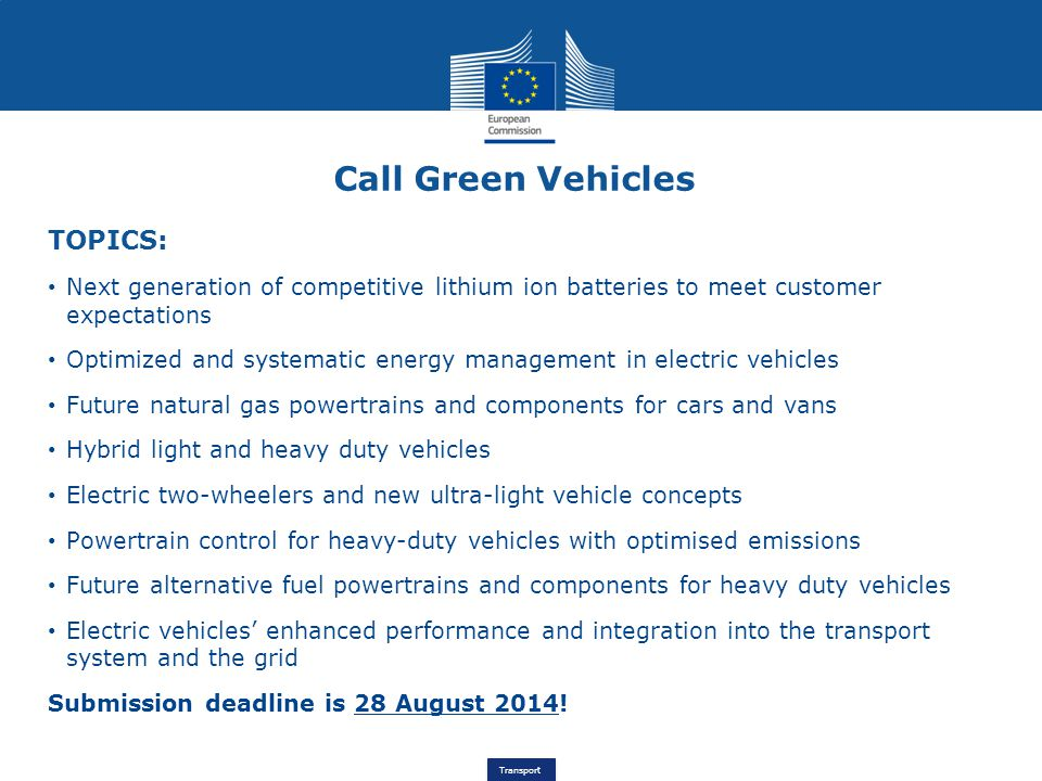 Call Green Vehicles TOPICS:
