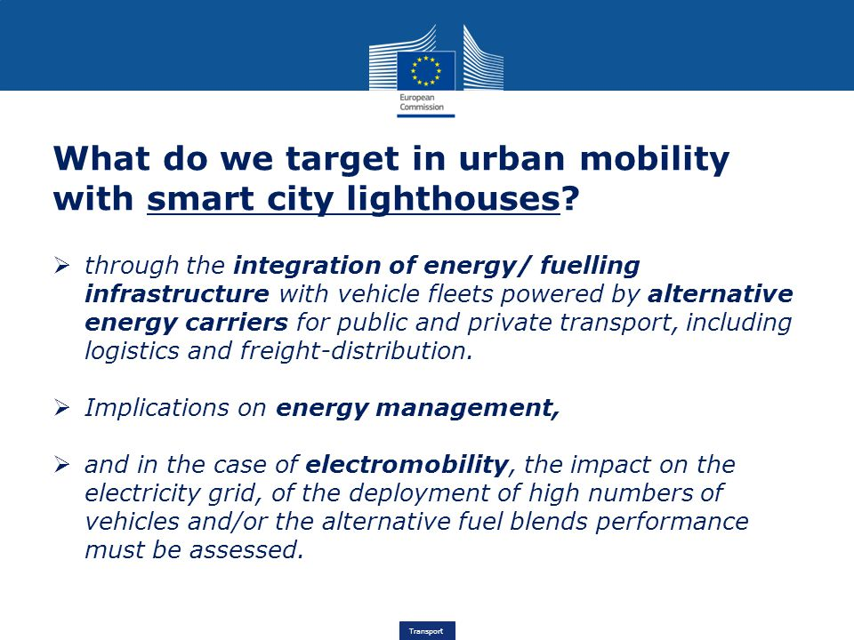 What do we target in urban mobility with smart city lighthouses