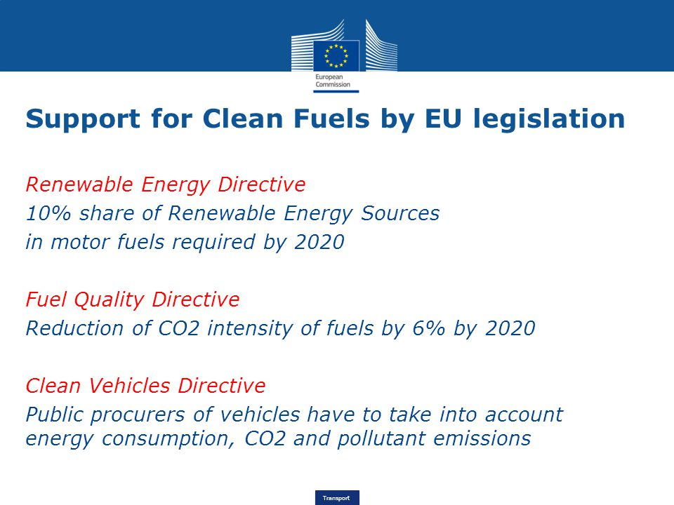 Support for Clean Fuels by EU legislation