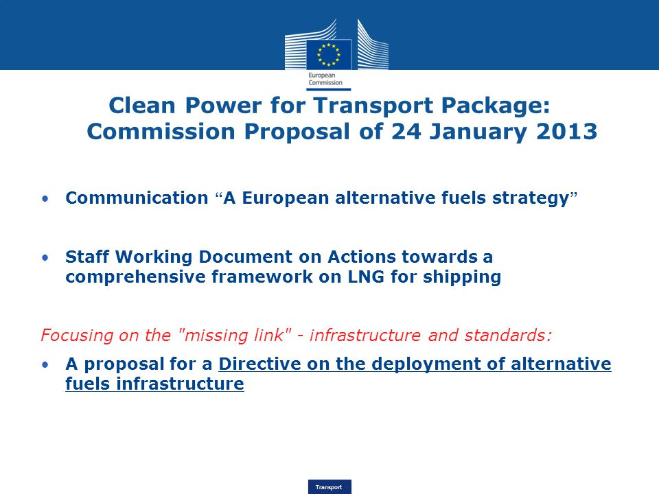 Clean Power for Transport Package: Commission Proposal of 24 January 2013