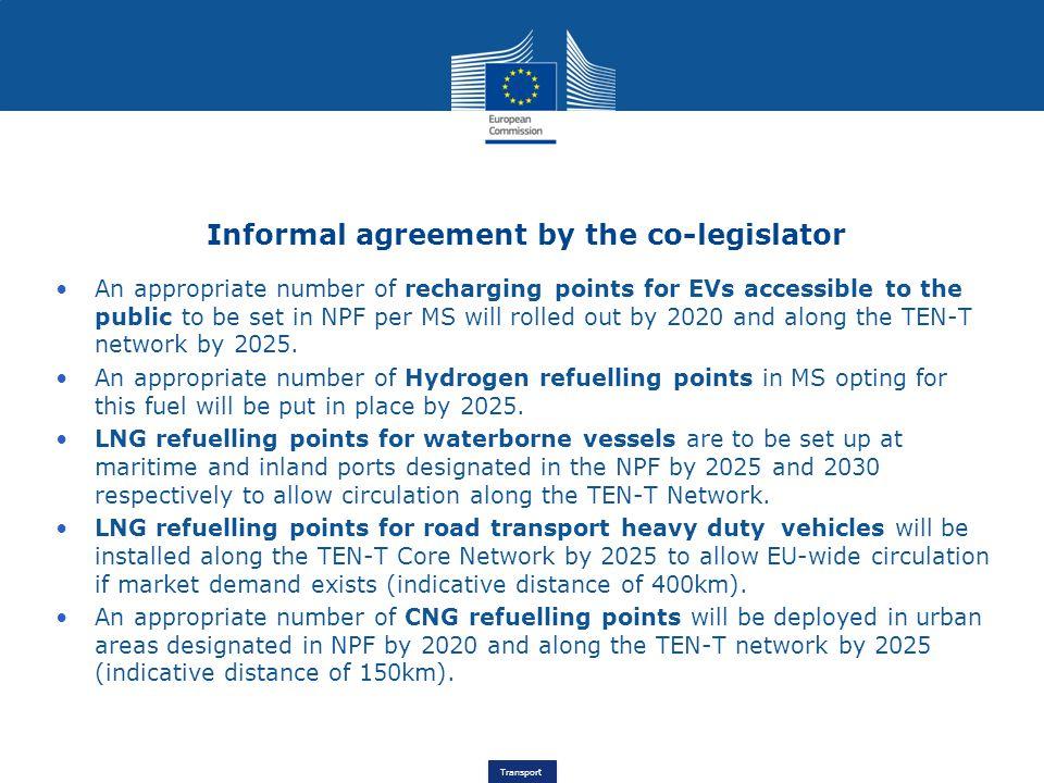Informal agreement by the co-legislator