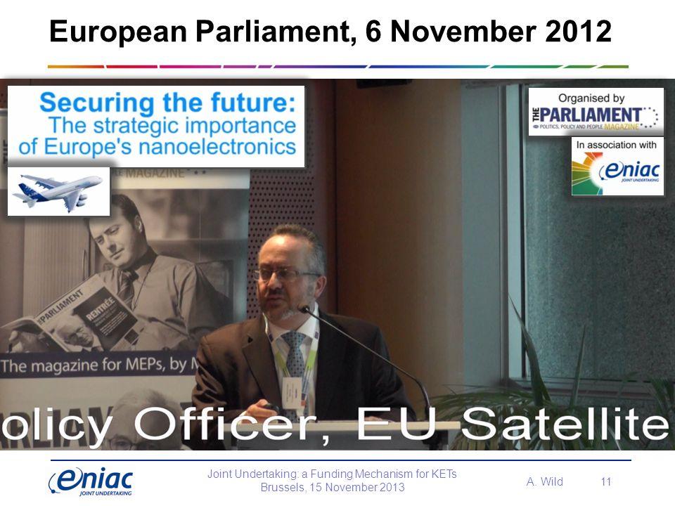 European Parliament, 6 November 2012