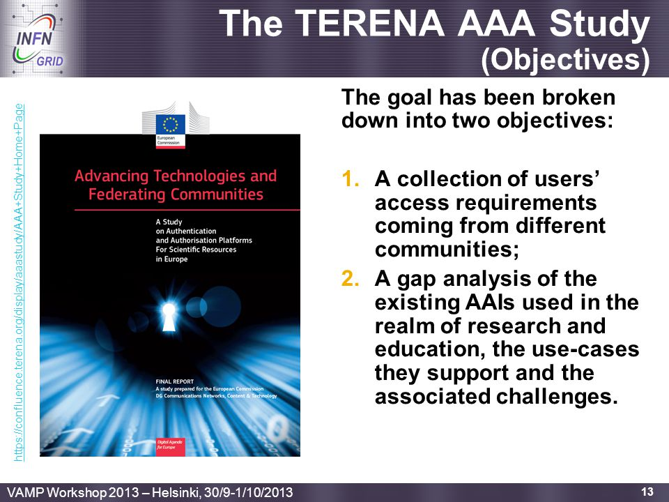 The TERENA AAA Study (Objectives)