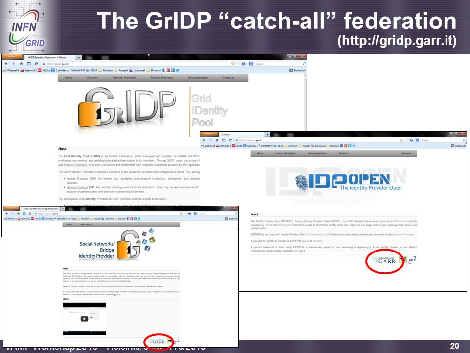 The GrIDP catch-all federation (http://gridp.garr.it)