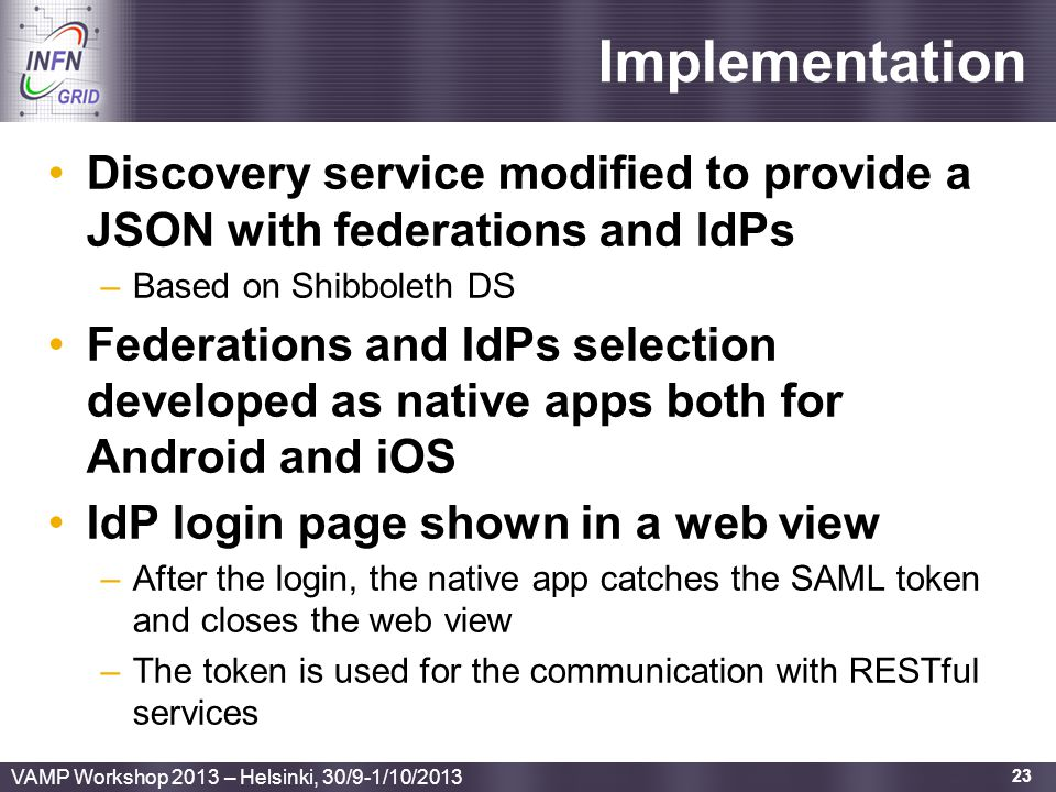 Implementation Discovery service modified to provide a JSON with federations and IdPs. Based on Shibboleth DS.