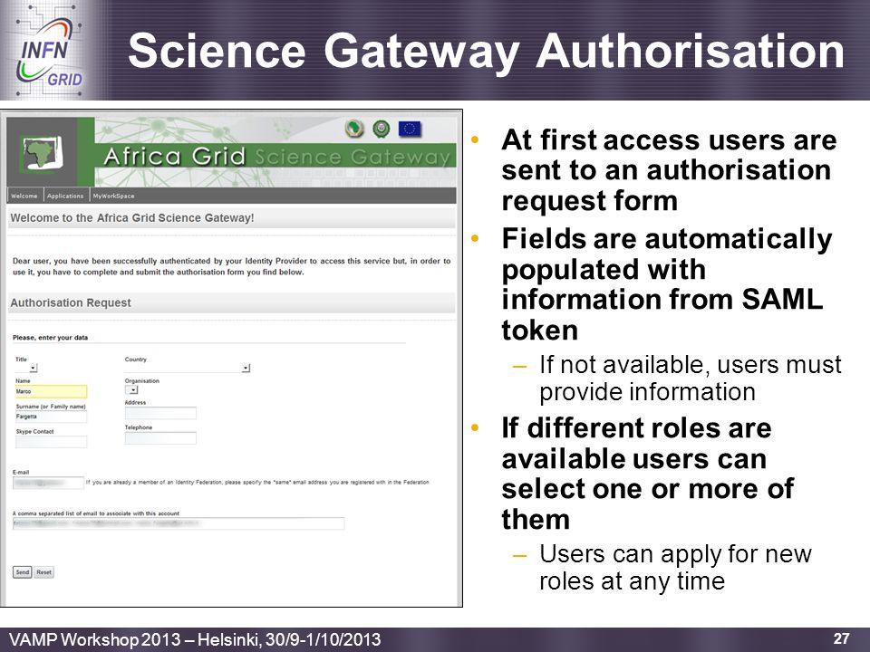 Science Gateway Authorisation