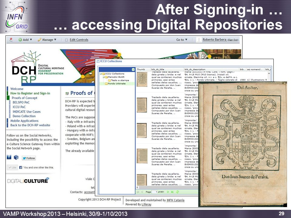 After Signing-in … … accessing Digital Repositories