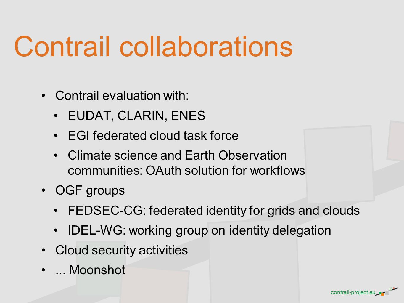 Contrail collaborations