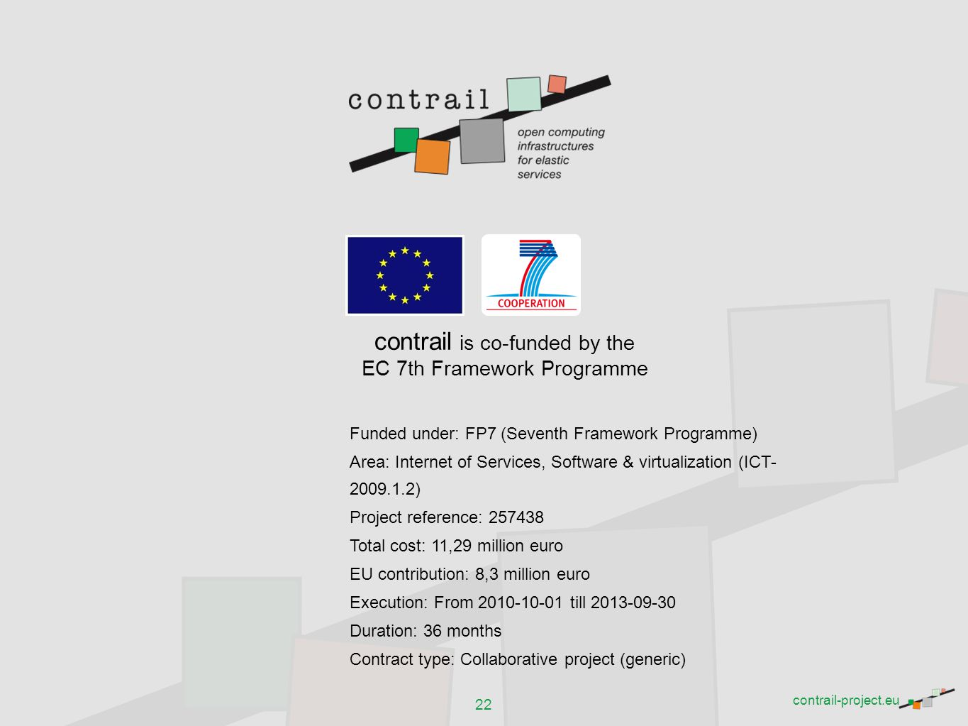 contrail is co-funded by the