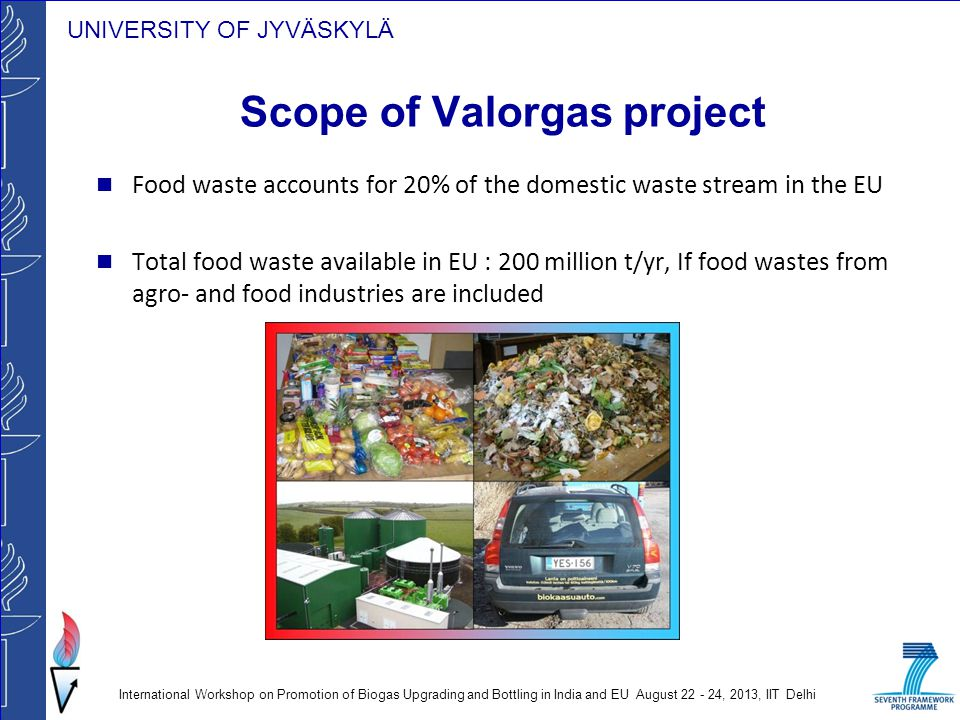 Scope of Valorgas project