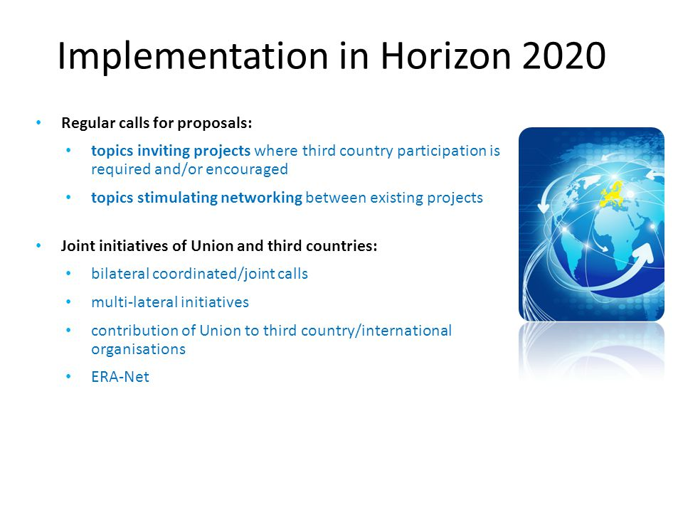 Implementation in Horizon 2020