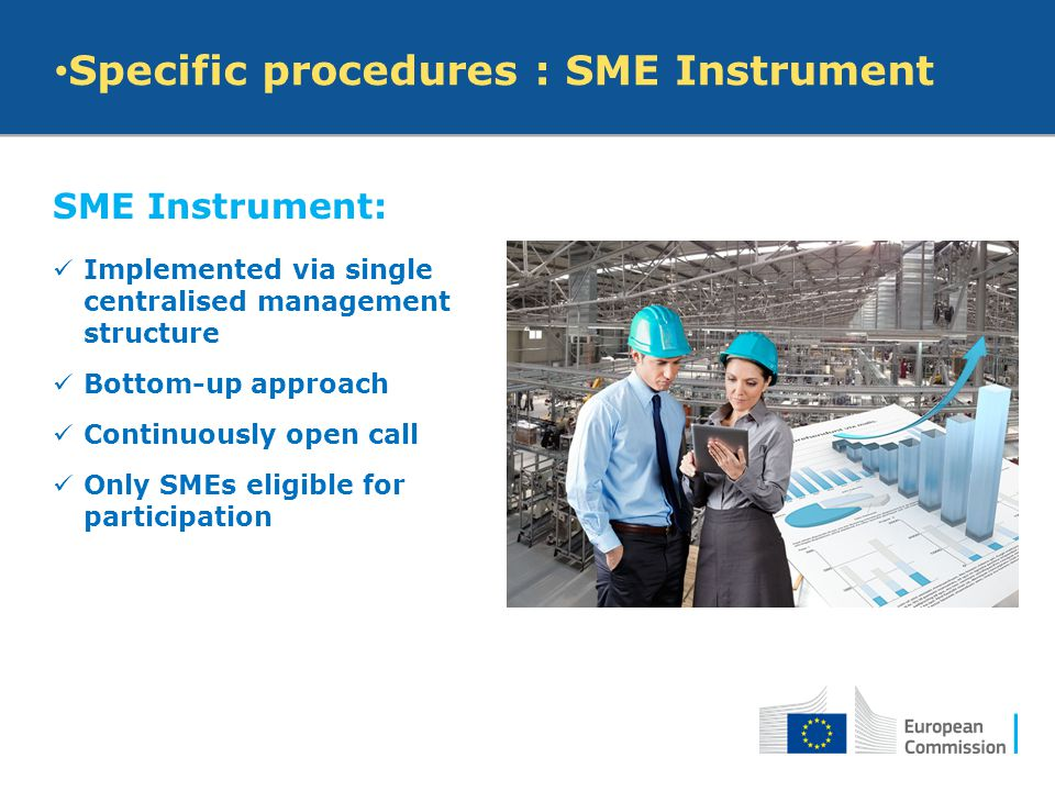 Specific procedures : SME Instrument