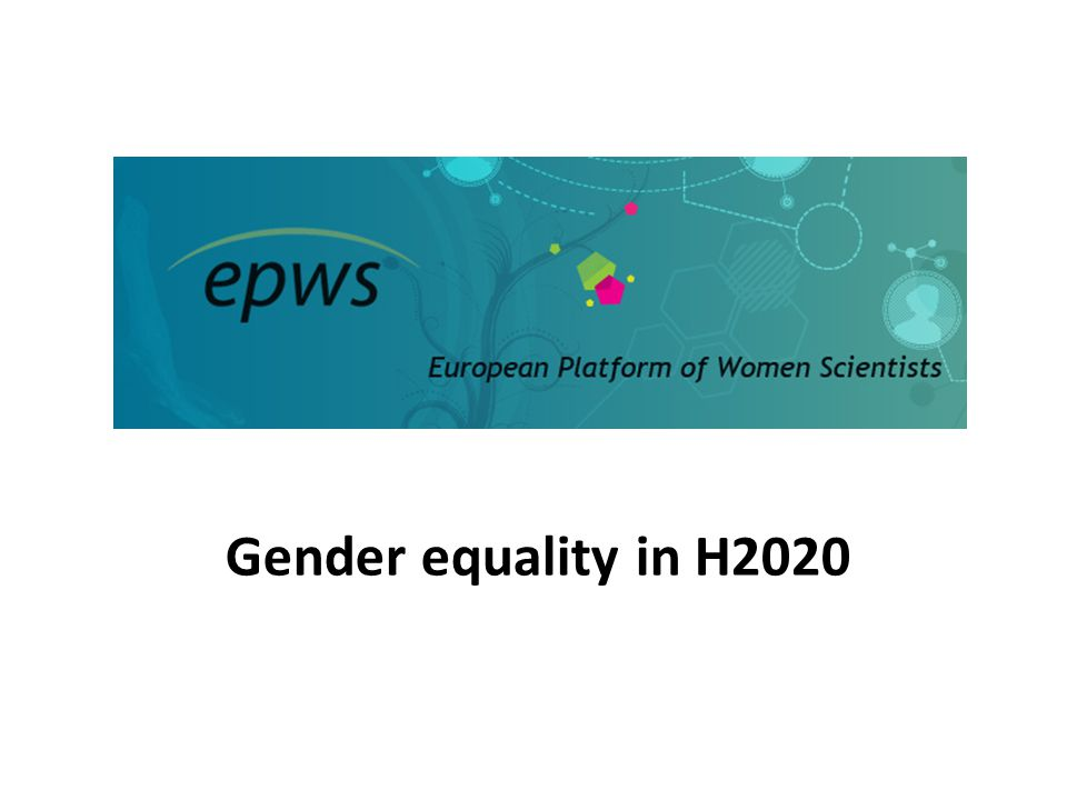 Gender equality in H2020