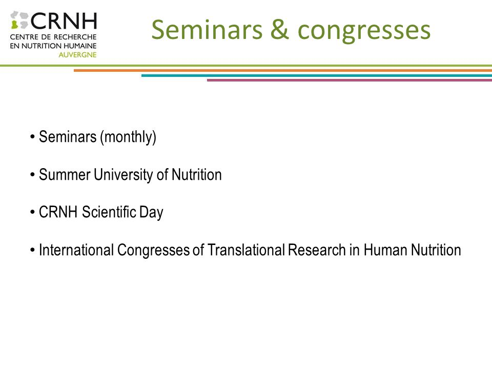 Seminars & congresses Seminars (monthly)