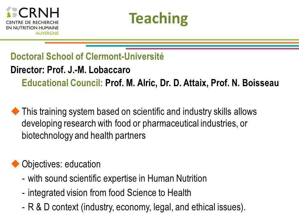 Teaching Doctoral School of Clermont-Université