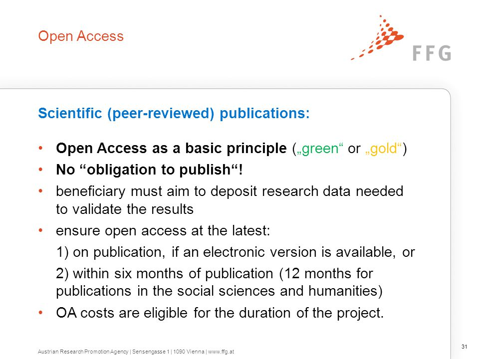 Pilot open Research Data Pilot