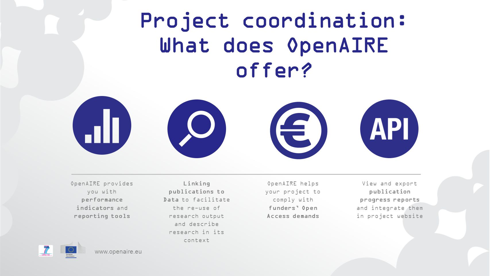 Project coordination: What does OpenAIRE offer