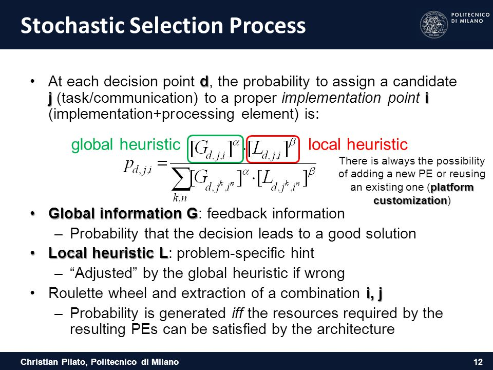 Stochastic Selection Process