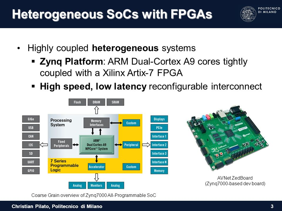 Heterogeneous SoCs with FPGAs