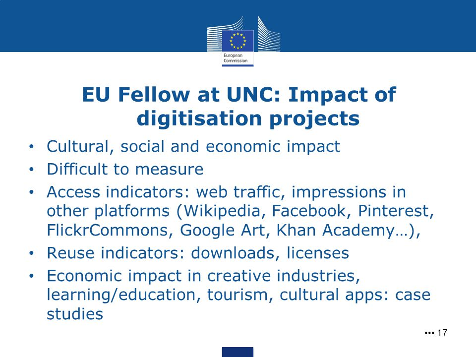 EU Fellow at UNC: Impact of digitisation projects