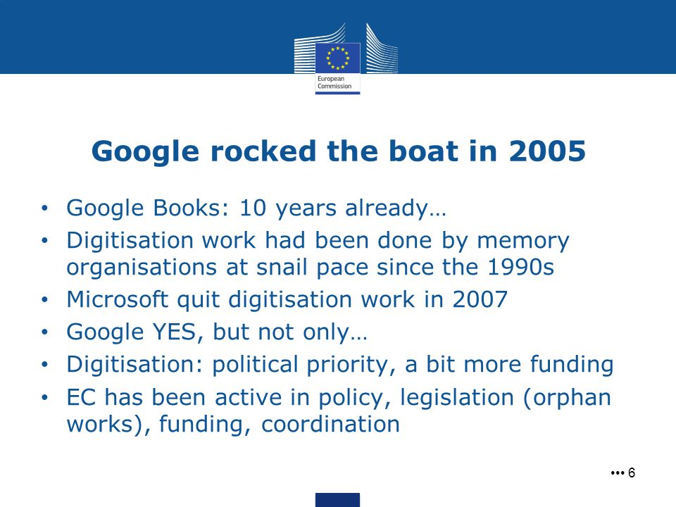 Google rocked the boat in 2005