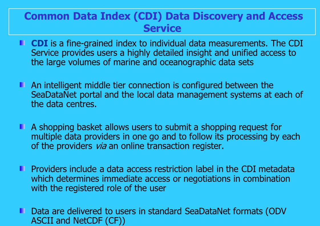 Common Data Index (CDI) Data Discovery and Access Service