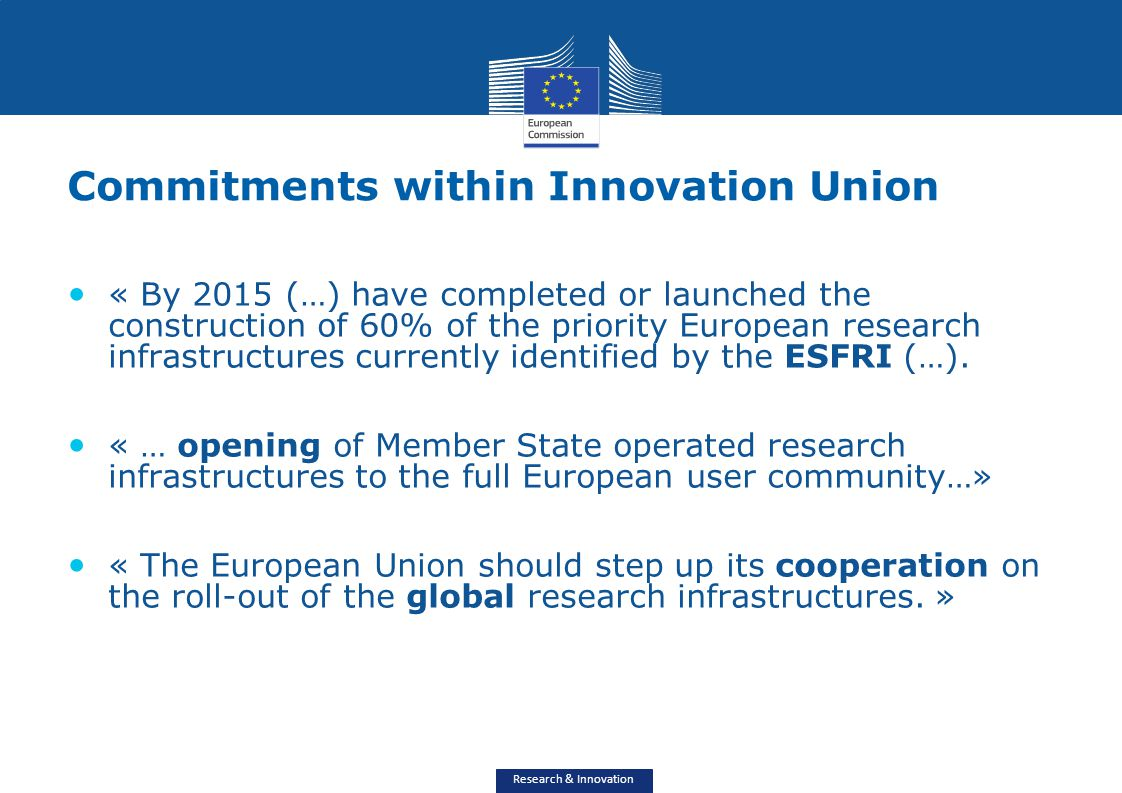 Commitments within Innovation Union