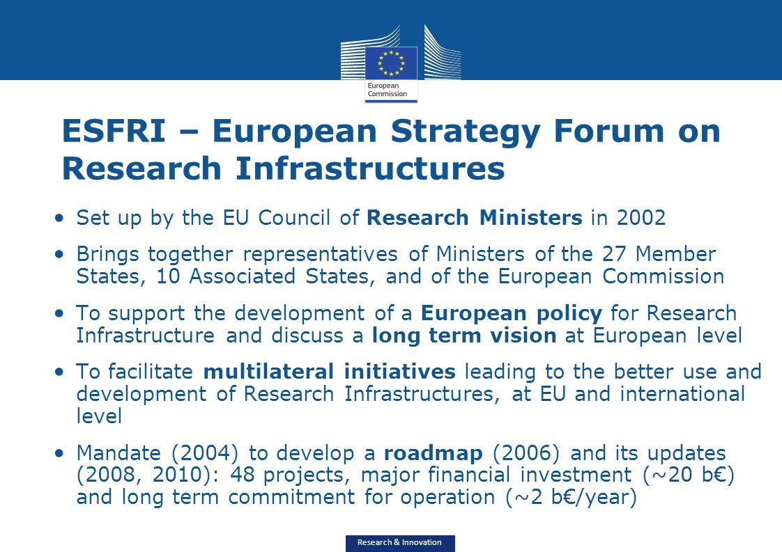 ESFRI – European Strategy Forum on Research Infrastructures