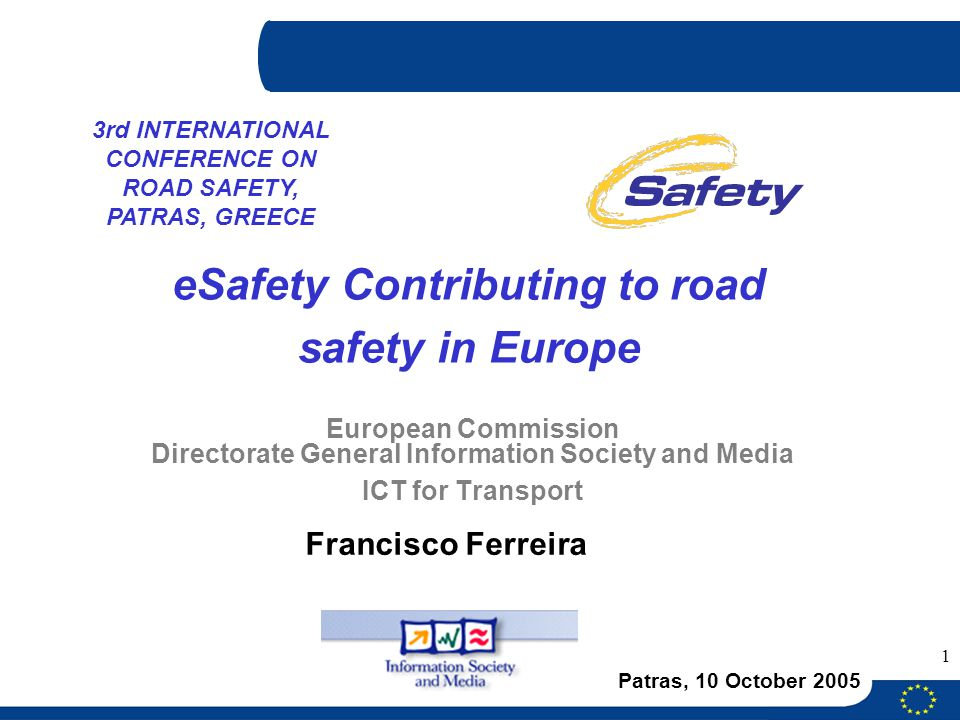 eSafety Contributing to road safety in Europe