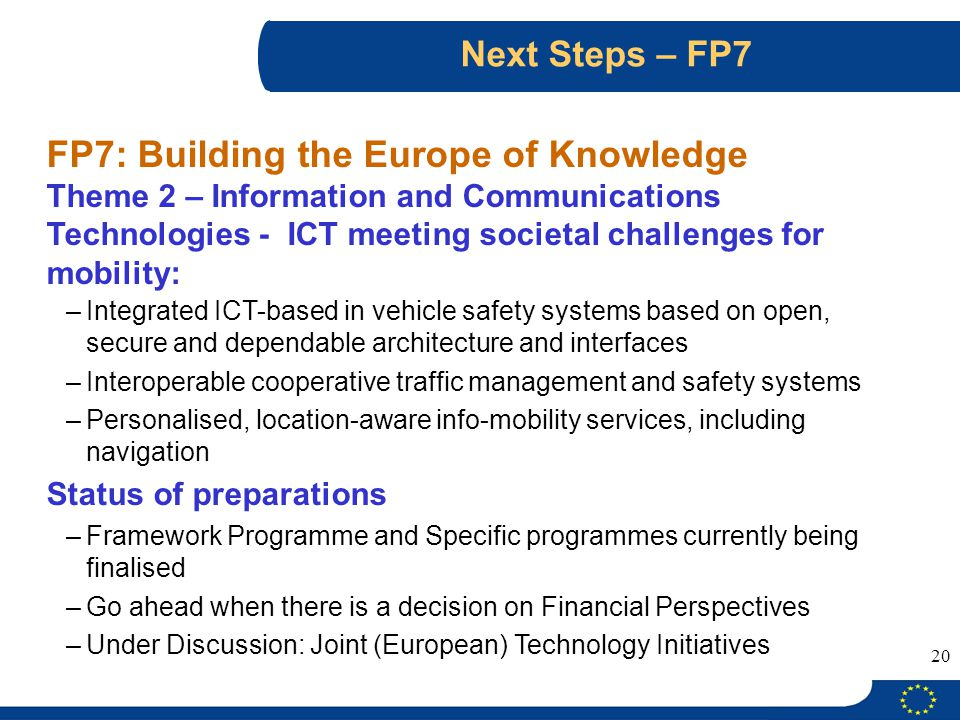 FP7: Building the Europe of Knowledge