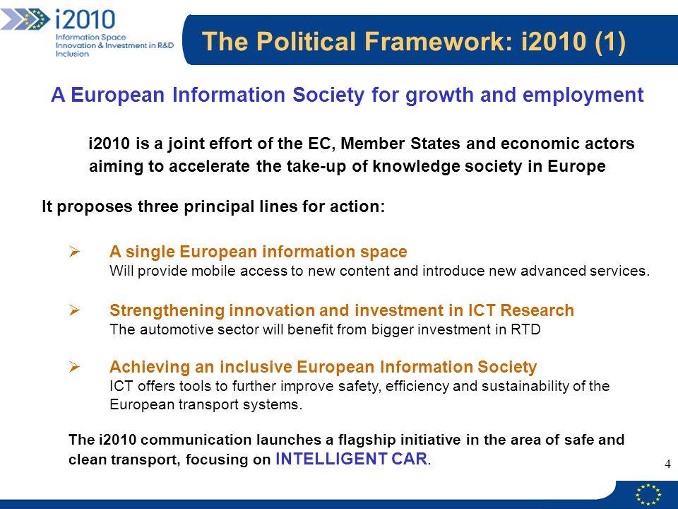 The Political Framework: i2010 (1)