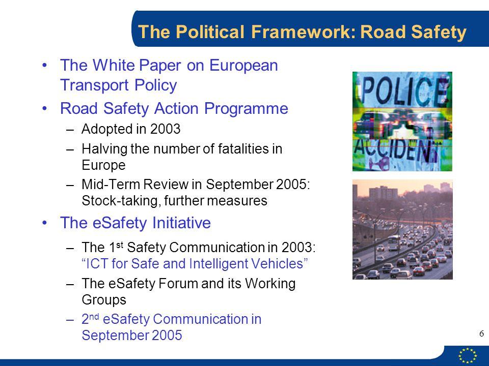The Political Framework: Road Safety