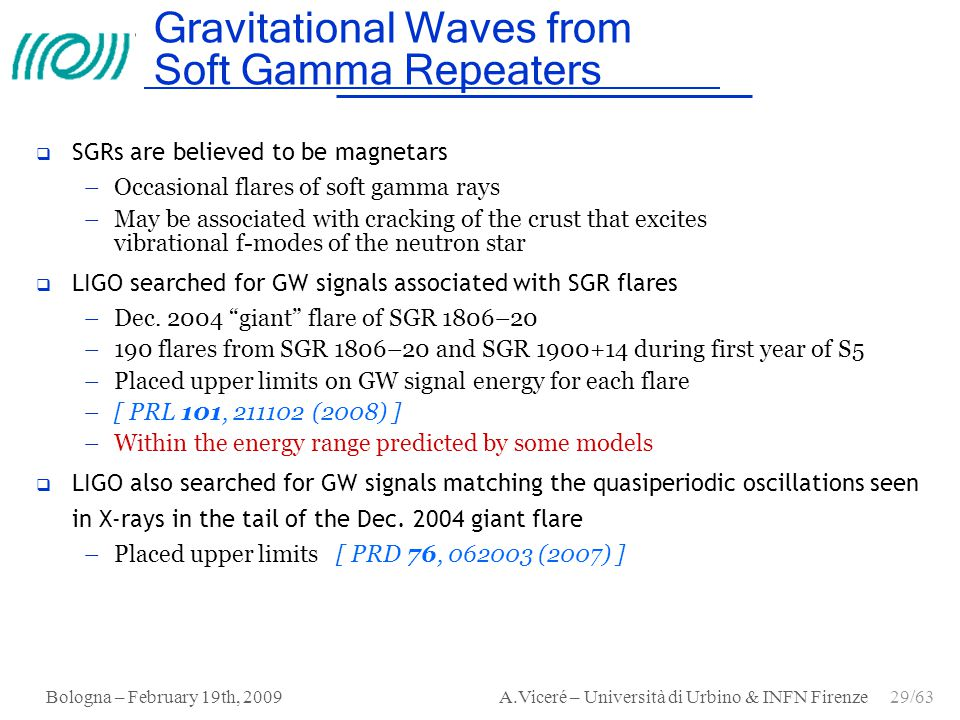 Gravitational Waves from Soft Gamma Repeaters