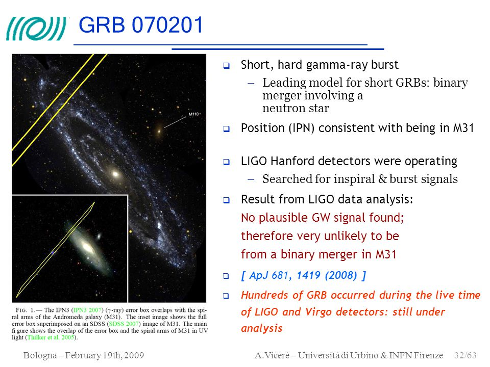 GRB 070201 Short, hard gamma-ray burst